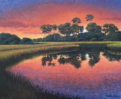 """""""Back Bay Farewell"""" Oil on Canvas 20"""" x 24"""""""