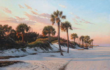 """""""Afternoon Glow"""" Acrylic on Linen 28"""" x 44"""""""