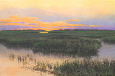"""Study-Beaufort Marsh"" Acrylic on Linen 12"" x 18"""
