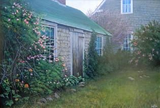 """Captain Henry Coleman House - Nantucket"" # 12079 Acrylic on Panel 24"" x 34"""