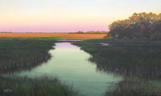 """""""Late Afternoon On The Creek"""" #19123 Acrylic on Linen 18"""" x 30"""""""