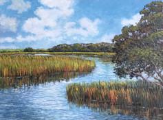 """Lazy Summer Creek"" Oil on Canvas 12"" x 16"""