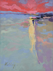 """Coral Dawn"" Oil on Canvas 16"" x 12"""