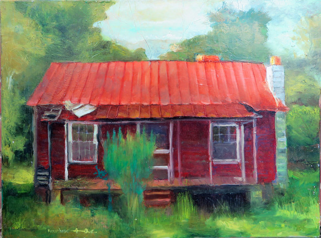 """""""Red House"""" PS-2007-066 Oil on canvas 16"""" x 20"""""""