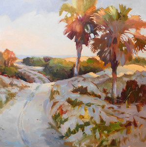 """""""Pathway to the Beach"""" Oil on Canvas 30"""" x 30"""""""