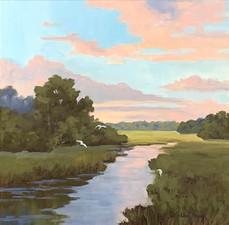 """""""Evening Sky"""" Oil on Canvas 20"""" x 20"""""""
