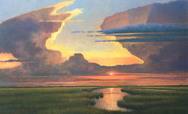 """Valley of the Heavens"" Oil on Canvas 30"" x 48"""