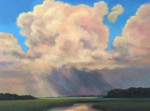 """""""Thunder On The Intracoastal"""" Oil on Canvas 30"""" x 40"""""""