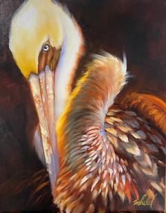 """Golden Glow"" Oil on Canvas 14"" x 11"""
