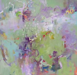 """Gator Pond"" Oil on Canvas 24"" x 24"""