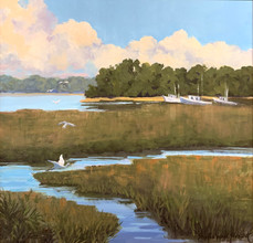 """""""Glorious Beaufort"""" Oil on Canvas 20"""" x 20"""""""