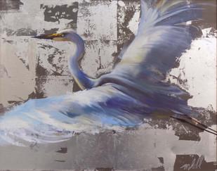 """Onward and Upward"" Mixed Media on Canvas 24"" x 30"""
