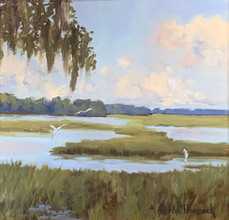 """""""Low Country Day"""" Oil on Canvas 12"""" x 12"""""""
