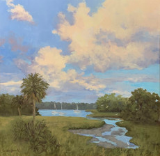 """Beaufort Sky"" Oil on Canvas 30"" x 30"""