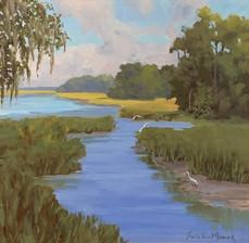 """Distant Marsh"" Oil on Canvas 20"" x 20"""