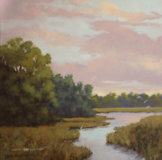 """""""View of Lady's Island"""" Oil on Canvas 20"""" x 20"""""""
