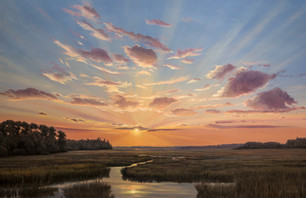 """""""Skydance, Lowcountry"""" #00321 Oil on Panel 24"""" x 36"""""""