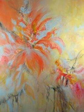 """Firebird"" Mixed Media on Canvas 48"" x 36"""