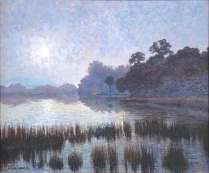 """""""Early Blue Haze"""" Oil on Canvas 20"""" x 24"""""""
