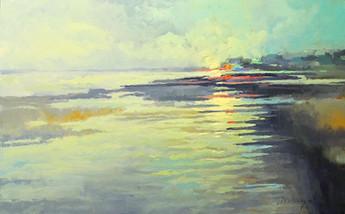 """Salt Marsh Morning"" Oil on Canvas 30"" x 48"""