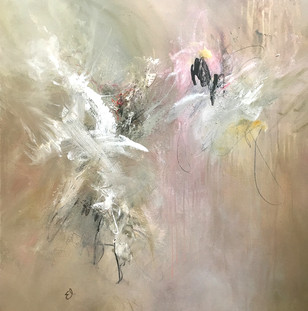 """""""Shreds of Time"""" Mixed Media on Canvas 36"""" x 36"""""""
