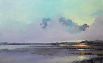 """Salt Marsh Morning III"" Oil on Canvas 30"" x 48"""