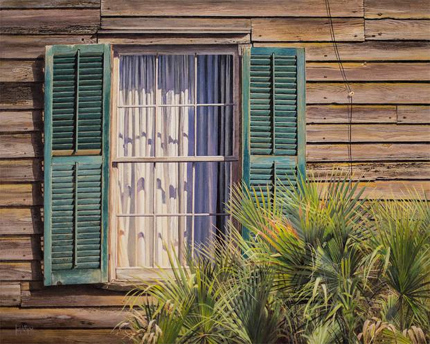 """""""Beach House"""" #14095 Acrylic on Linen 24"""" x 30"""""""