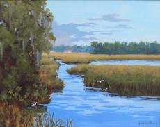 """Mellow Marsh"" Oil on Canvas 24"" x 30"""