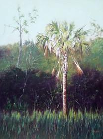 """Beautiful Palmetto"" Oil on Canvas 48"" x 36"""