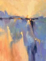 """""""Salt Marsh Morning V"""" Oil on Canvas 40"""" x 30"""""""