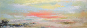 """Awake"" Acrylic on Canvas 12"" x 36"""