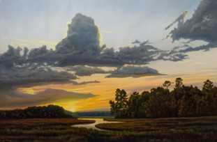 """Low Country Stillness"" Oil on Linen 24"" x 36"""