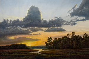 """""""Low Country Stillness"""" Oil on Linen 24"""" x 36"""""""