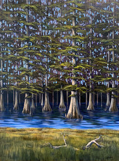 """""""Cypress Channel"""" Acrylic on Canvas 46"""" x 32"""