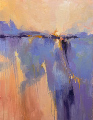 """""""Dawn Comes Softly"""" Oil on Canvas 40"""" x 30"""""""