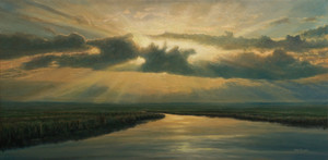 """""""Evocation"""" Oil on Board 12"""" x 24"""""""