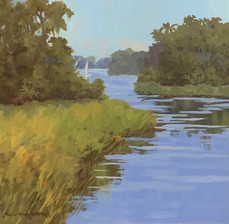 """""""Low Country Sails"""" Oil on Canvas 20"""" x 20"""""""