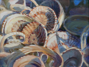 """""""Sweetgrass Baskets"""" Oil on Canvas 20"""" x 34"""""""