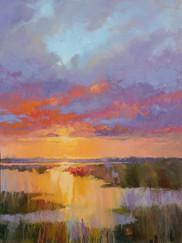 """""""Salt Marsh Dawn"""" Oil on Canvas 48"""" x 36"""""""