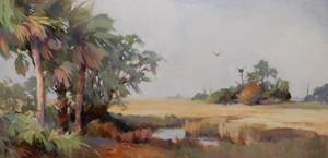 """""""The Osprey Nest"""" Oil on Canvas 24"""" x 48"""""""
