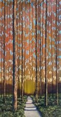 """""""Narrow Path"""" Acrylic on Canvas 36"""" x 18"""""""