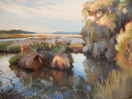 """""""Sunrise At Bear Island"""" Oil on Canvas 20"""" x 24"""""""