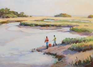 """""""Afternoon on the Creek"""" Oil on Canvas 18"""" x 24"""""""