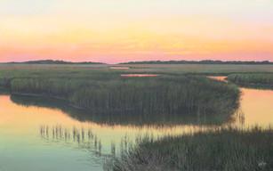 """The Marsh, Beaufort"" #18115 Acrylic on Linen 30"" x 48"""
