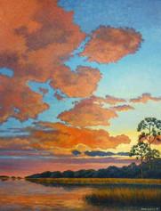 """Harmony in Purple and Orange"" Oil on Canvas 40"" x 30"""