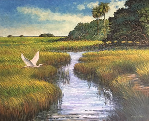 """""""King of the Low Country"""" Oil on Canvas 24"""" x 30"""""""