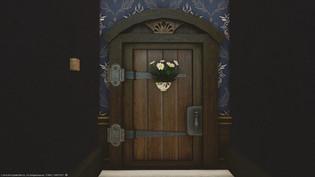 Flowery door