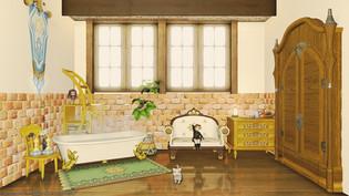 Cream yellow room 01