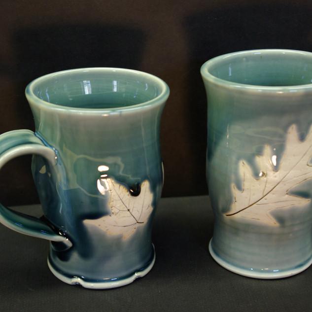 Tall Leaf Mugs