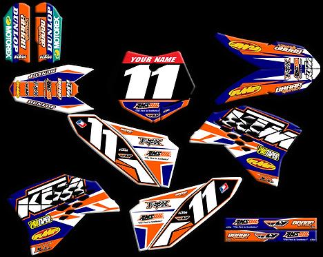 KTM 50  Blue/Orange Graphics kit (2009-2015)